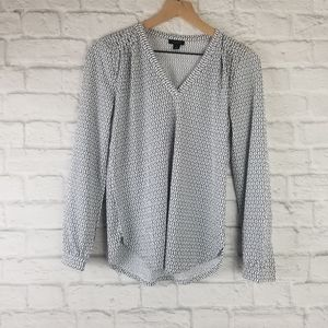 Ann Taylor Factory| Long Sleeve V-Neck Blouse